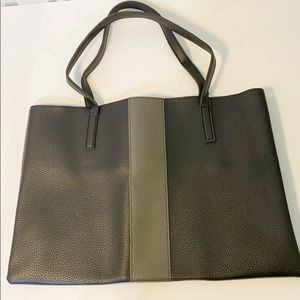 New Vince Camuto Tote Gray Black FFF